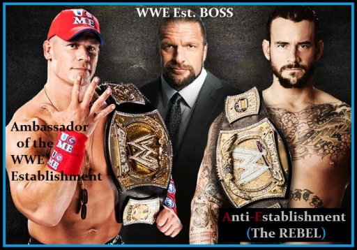 FACE OFF_John Cena_vs_CM-Punk_Champion vs Champion